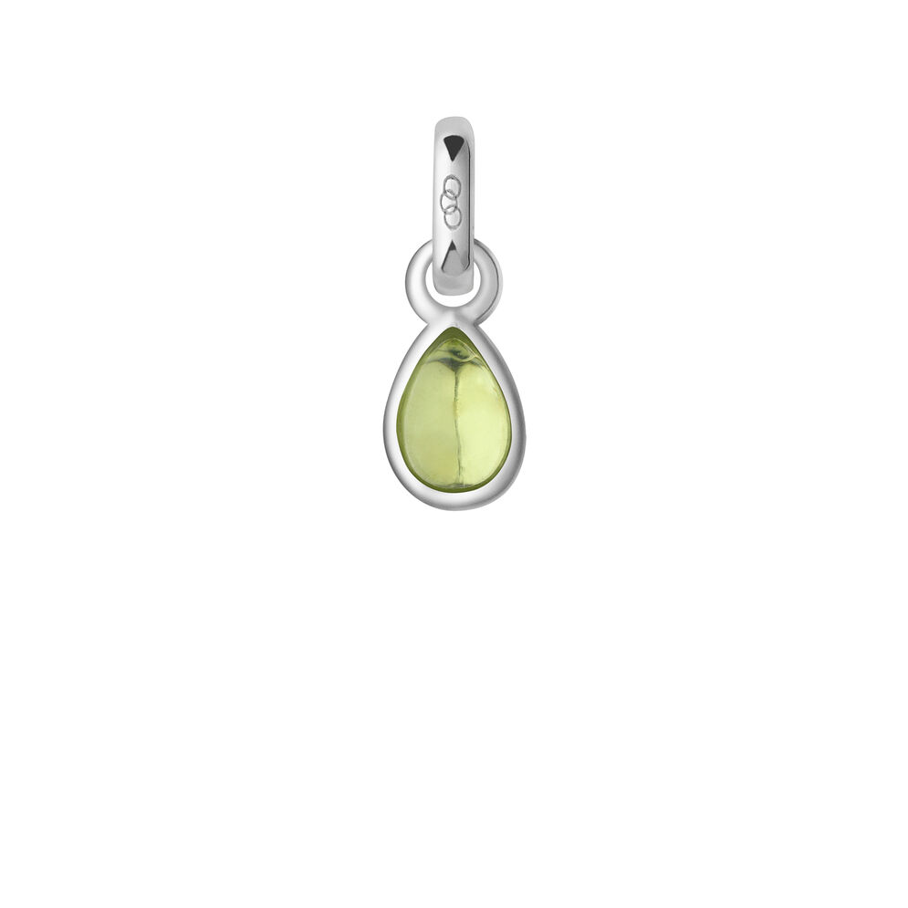 Peridot & Sterling Silver August Mini Birthstone Charm, , hires