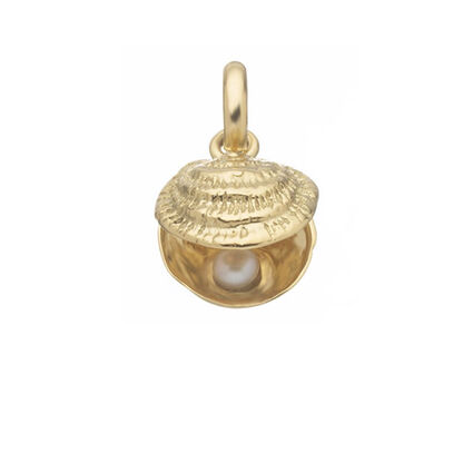 18kt Yellow Gold & White Pearl Lucky Catch Charm, , hires