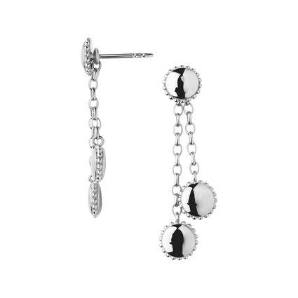 Amulet Sterling Silver Drop Earrings, , hires