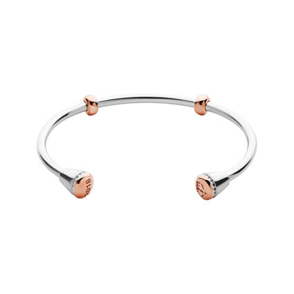 Ascot 2018 Sterling Silver with Rose Gold Vermeil Cuff - M, , hires