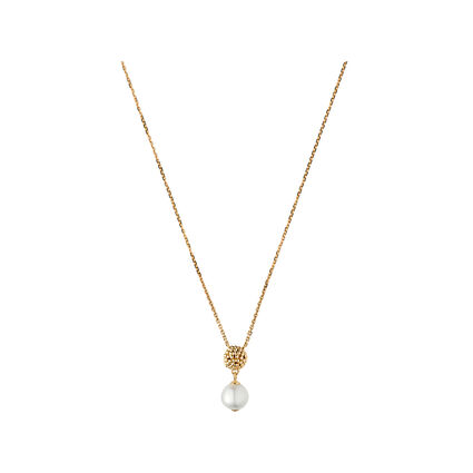 Effervescence 18kt Yellow Gold & White Pearl Necklace, , hires