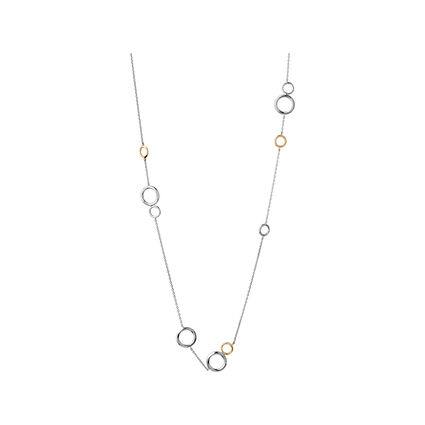 20/20 Bi-Metal 18kt Yellow Gold & Sterling Silver Long Necklace, , hires