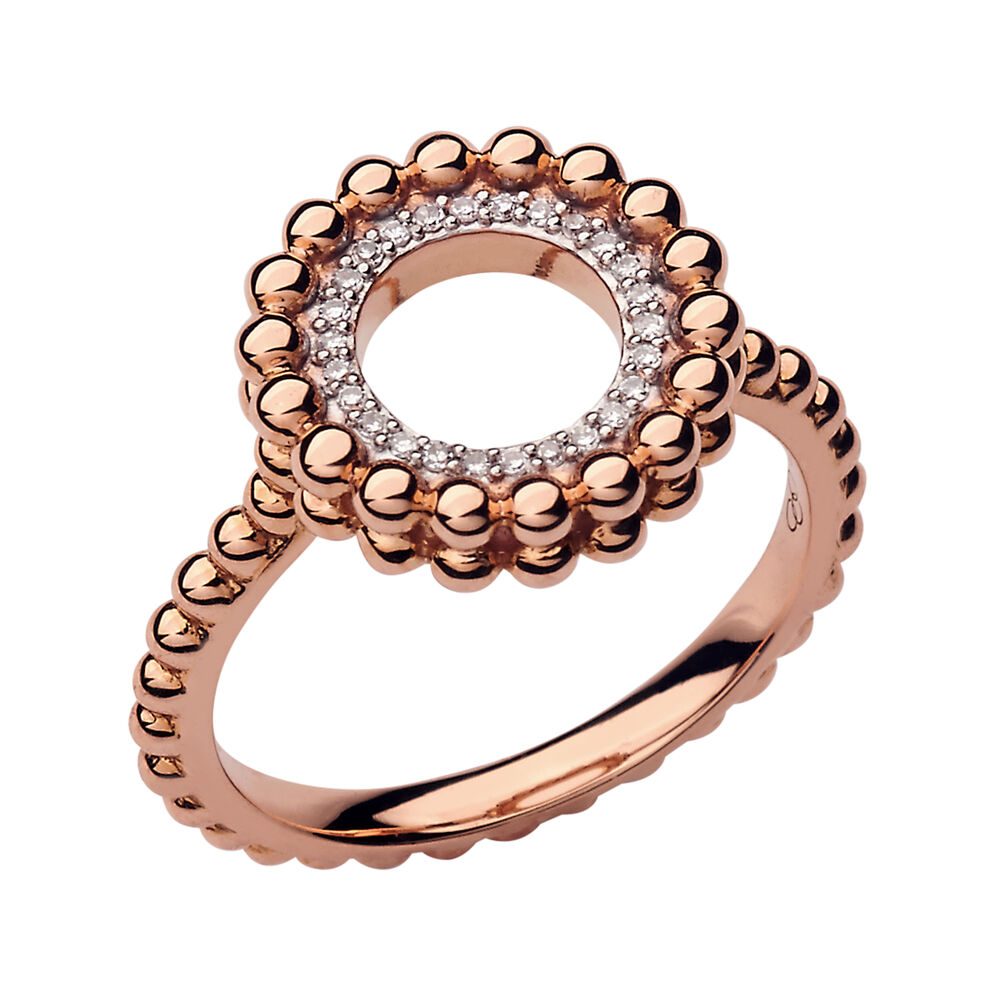 Effervescence 18ct Rose Gold & Diamond Ring, , hires
