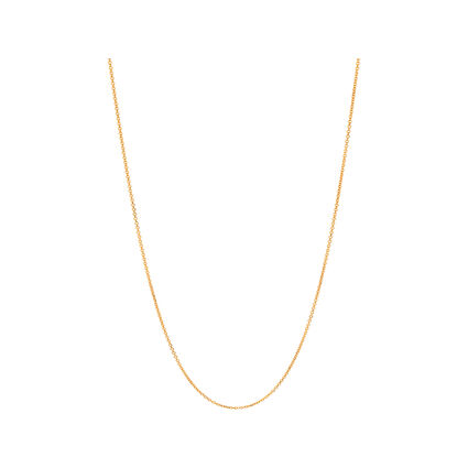 Essentials Yellow Gold Vermeil 1.2mm Cable Chain 45cm, , hires