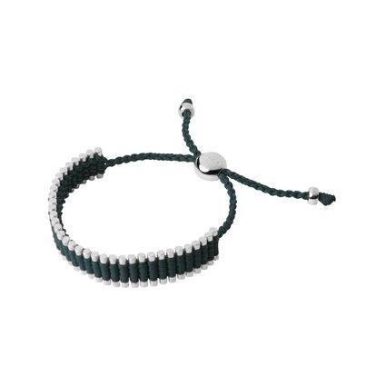Sterling Silver & Forest Green Friendship Bracelet, , hires