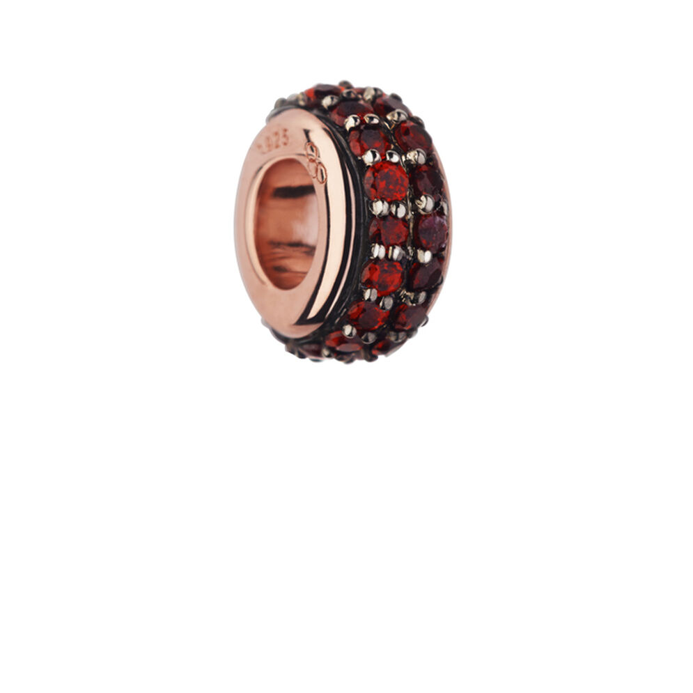 Sweetie 18kt Rose Gold Vermeil & Rhodolite Garnet Pave Bead, , hires