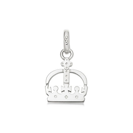 Ascot Sterling Silver Crown Charm, , hires