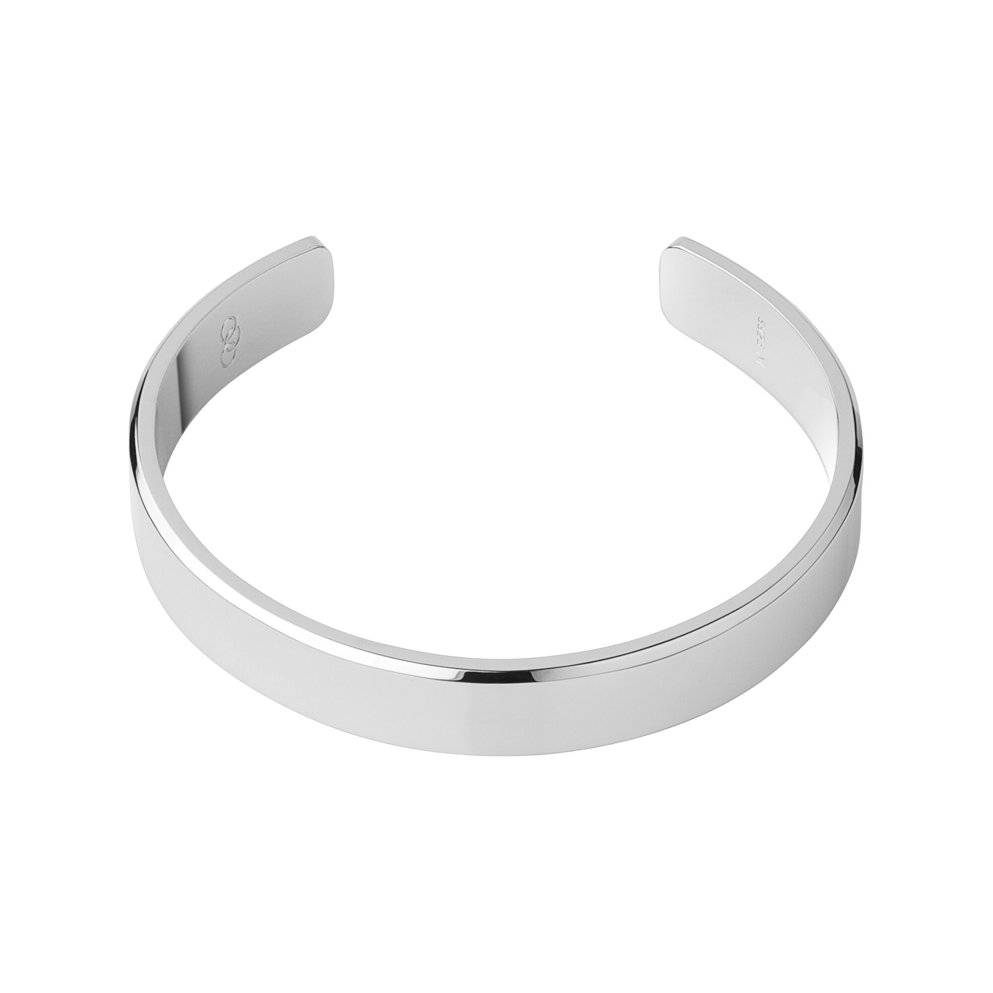 slim plain bangle bangles sterling index silver torque