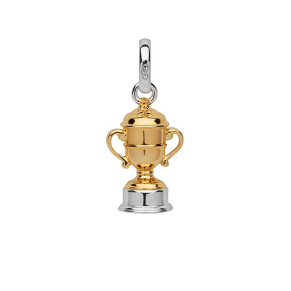 Ascot Sterling Silver & 18kt Yellow Gold Vermeil Gold Cup Charm, , hires