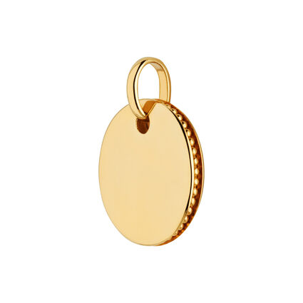 Narrative 18kt Yellow Gold Vermeil Small Round Disc Pendant, , hires