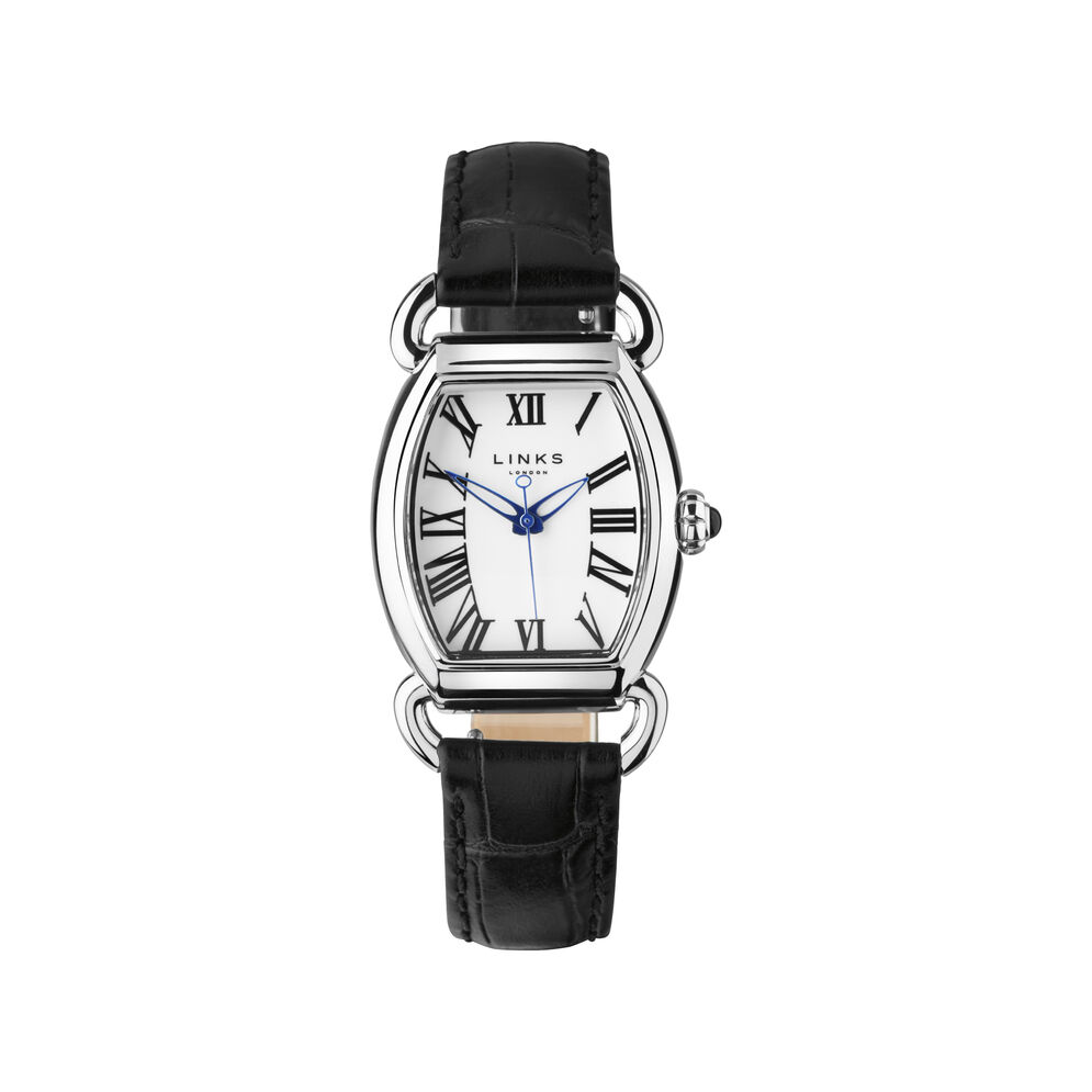 Driver Elipse Womens Stainless Steel Black Leather Watch, , hires