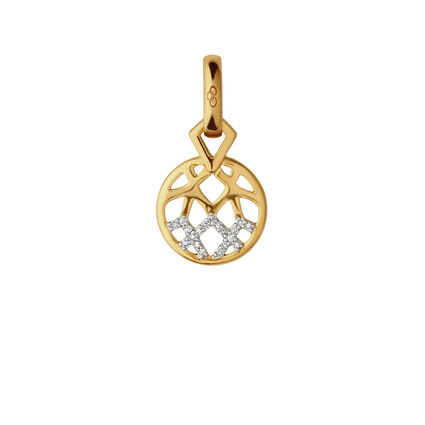 Timeless Gold Diamond & 18kt Charm, , hires