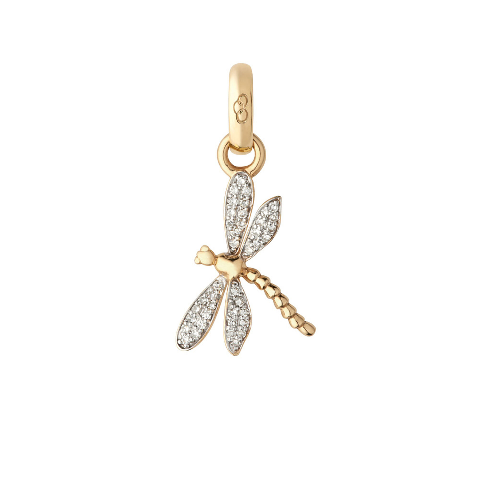 with gold dragonfly more diamonds views rose pendant