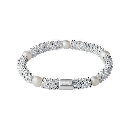 Effervescence Star Sterling Silver & White Pearl Bracelet, , hires