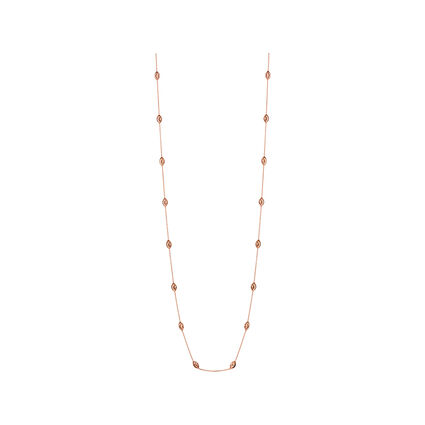 Essentials 18kt Rose Gold Vermeil Beaded Chain Necklace 80cm, , hires