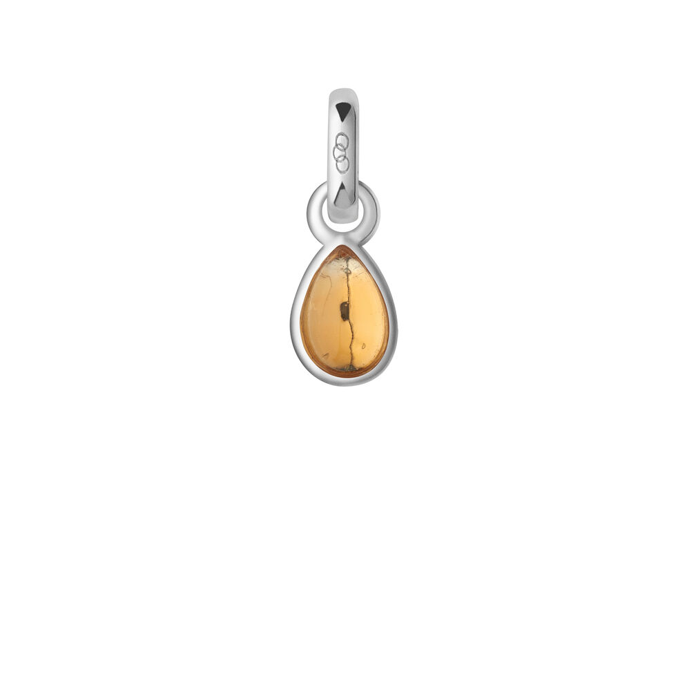 Citrine & Sterling Silver November Mini Birthstone Charm, , hires