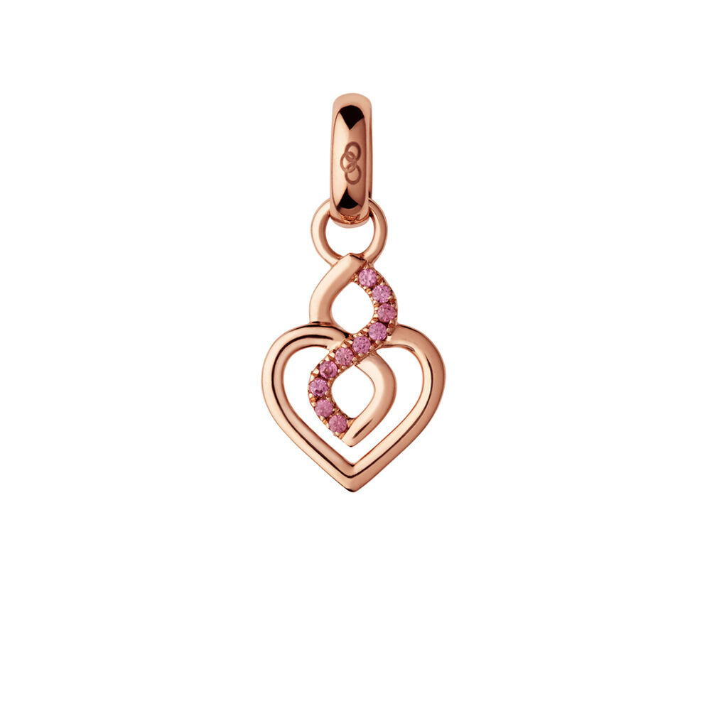 18K Rose Gold & Rhodolite Garnet Infinite Love Charm, , hires