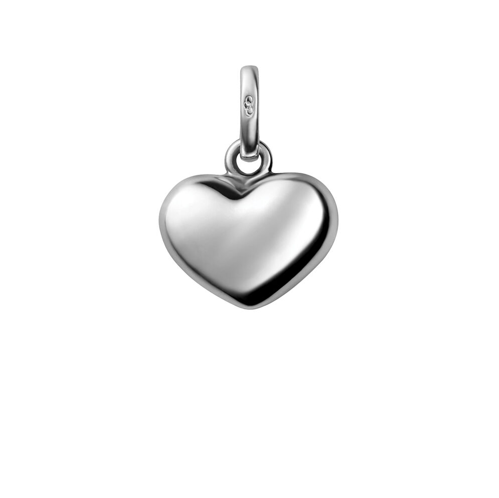 Sterling Silver Heart Charm, , hires