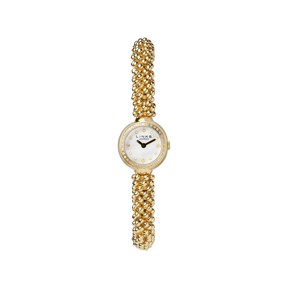 Effervescence Star Yellow Gold Plate & Sapphire Watch, , hires