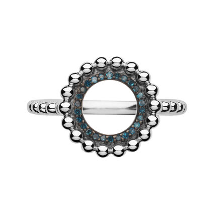 Effervescence Sterling Silver & Blue Diamond Ring, , hires