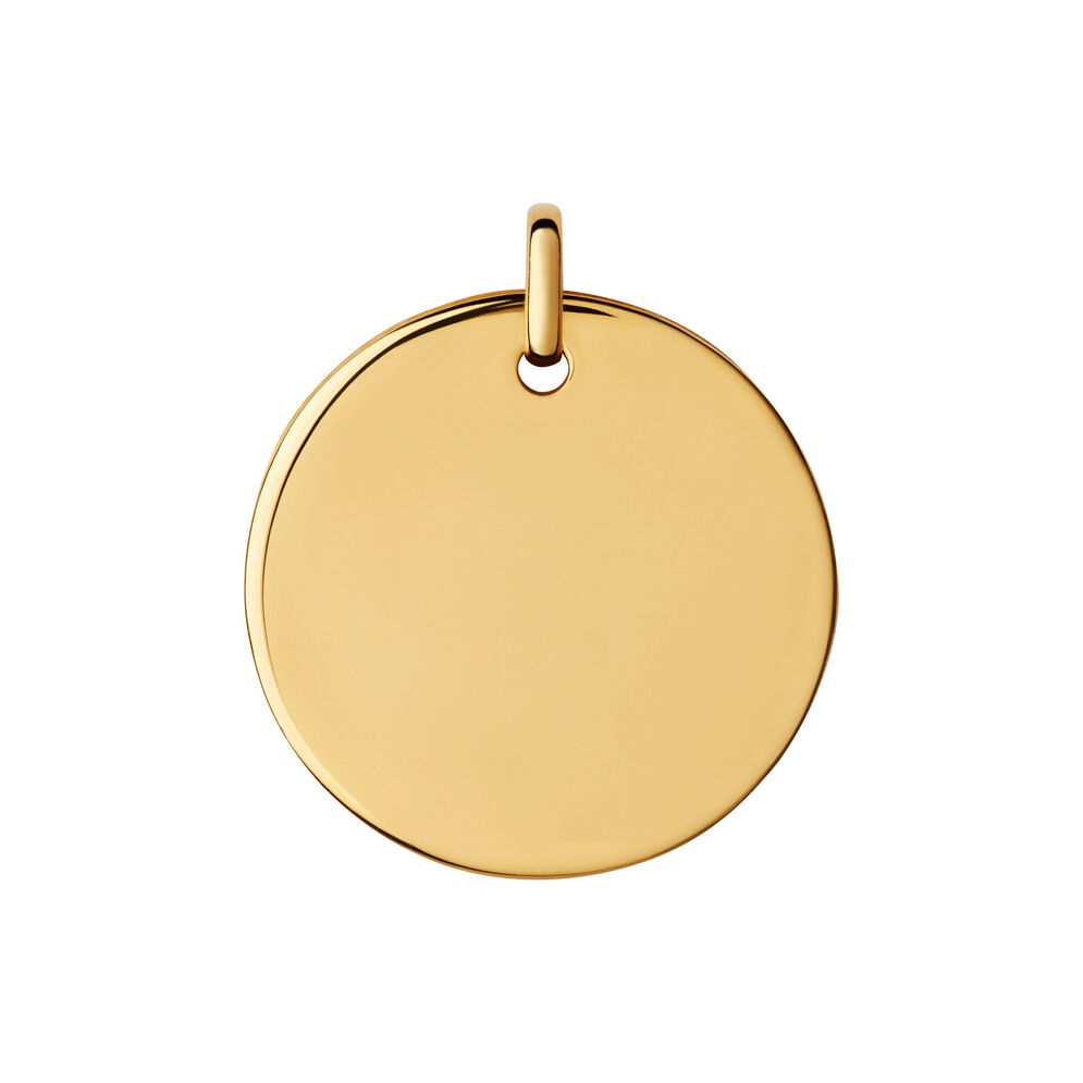 Narrative 18kt Yellow Gold Vermeil Large Round Disc Pendant, , hires