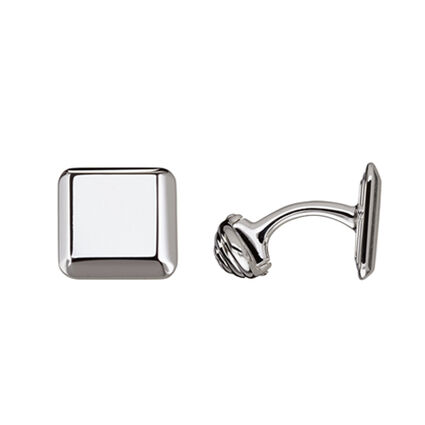 Sterling Silver Square Cufflinks, , hires