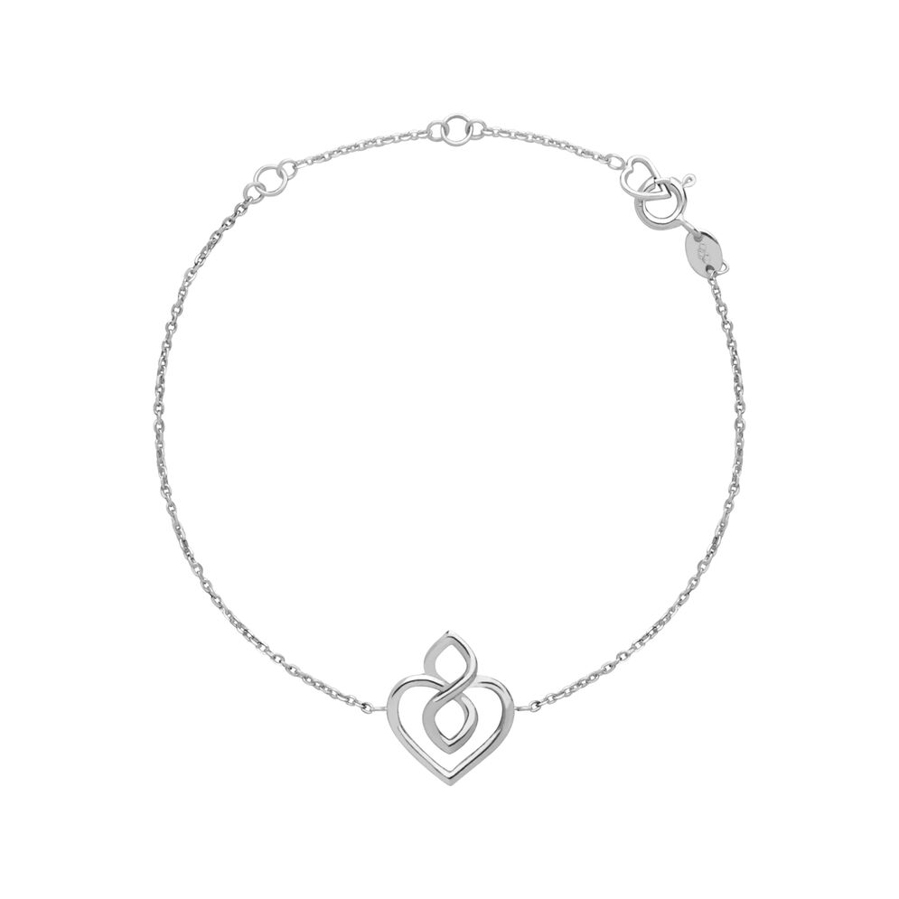 Infinite Love Sterling Silver Heart Bracelet, , hires