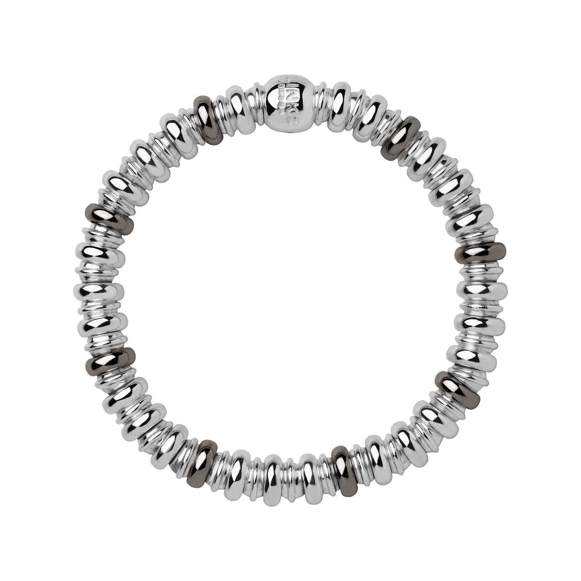 bracelets cross products ugleam rhodium bracelet thick link