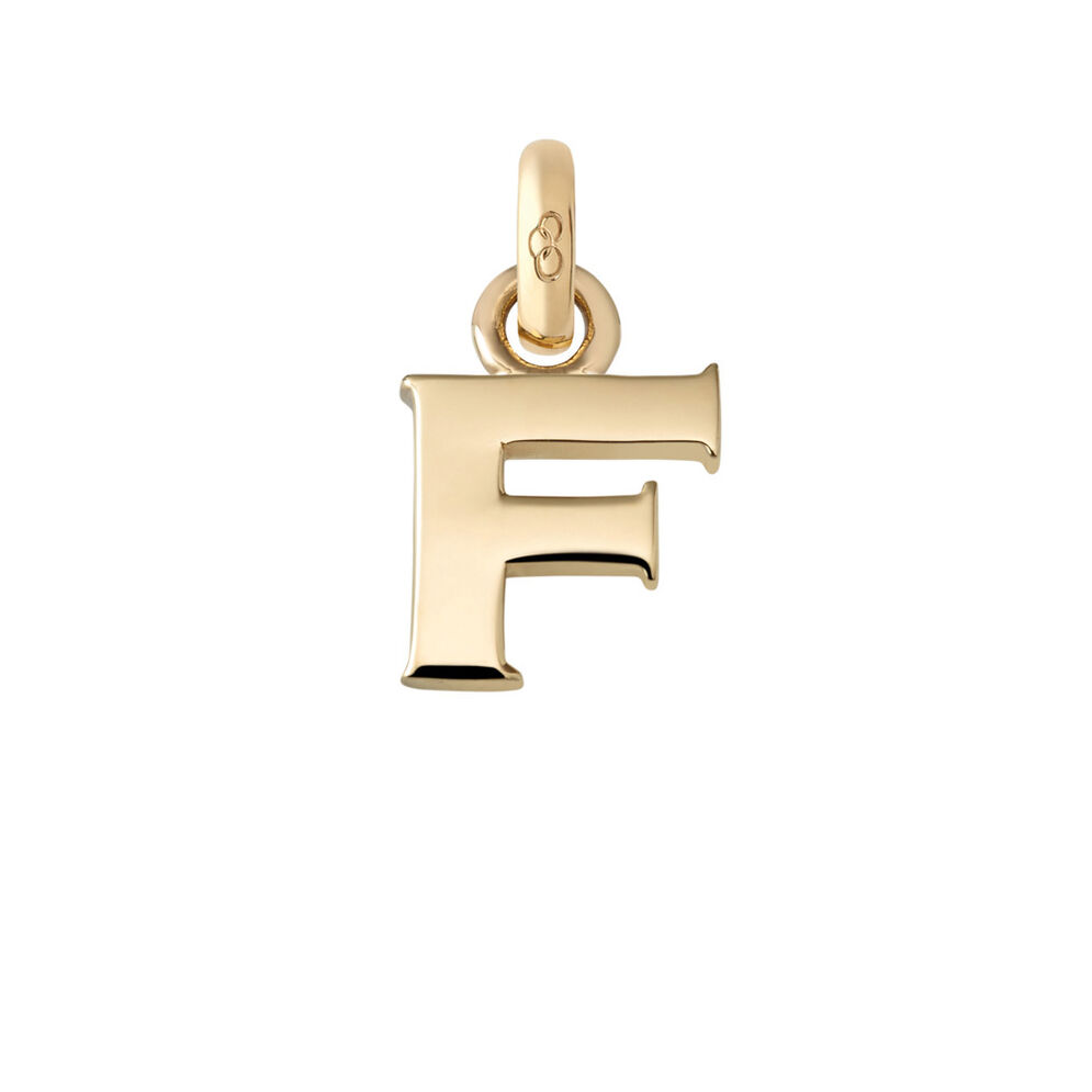18kt Yellow Gold F Charm, , hires