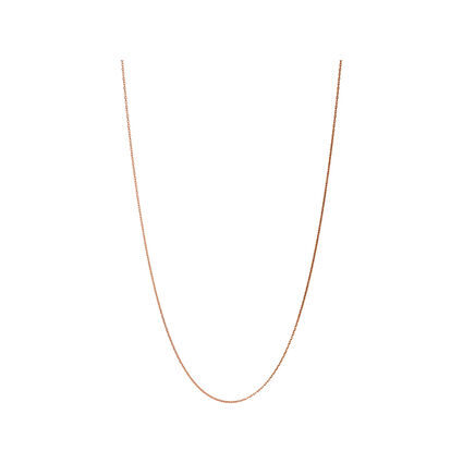 Essentials Rose Gold Vermeil 1.2mm Cable Chain 70cm, , hires