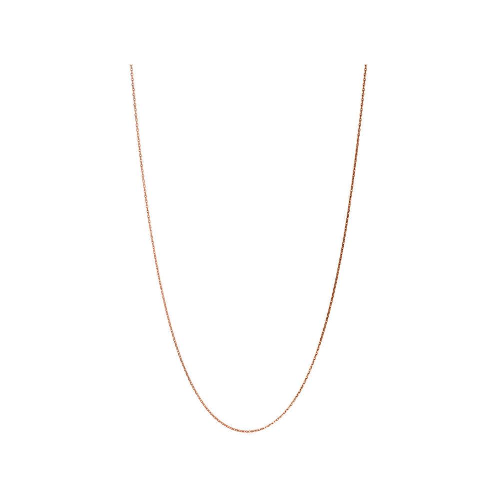 Essentials Rose Gold Vermeil 1.2mm Cable Chain 70cm, , hires