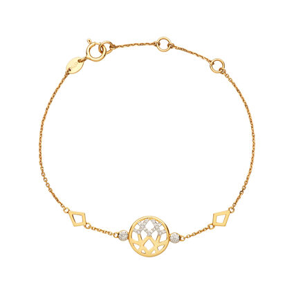 18K Yellow Gold & Diamond Timeless Bracelet, , hires