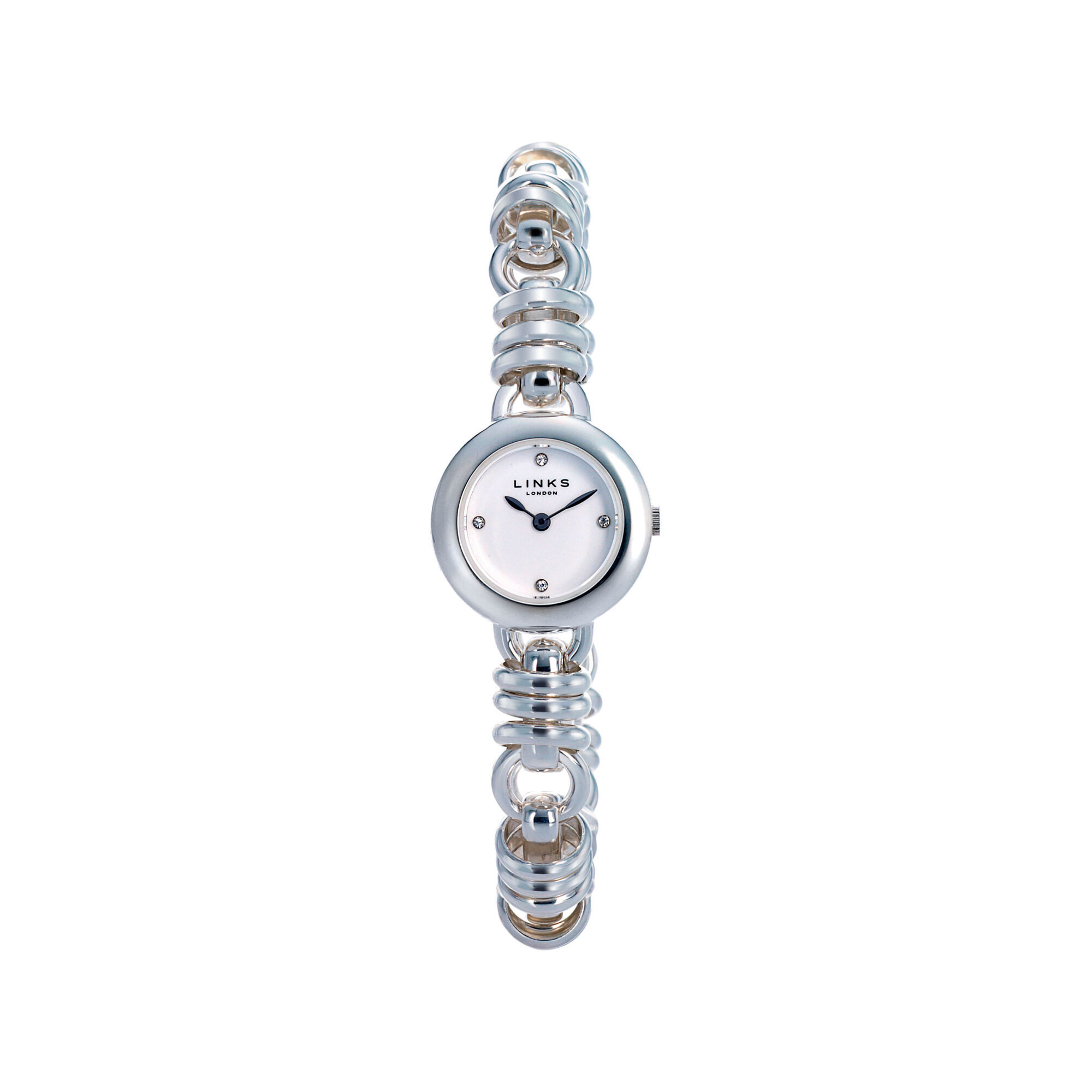 s tone silver design twist women watches link multifunction xxiv pin watch chain akribos