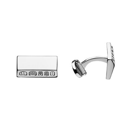 Rectangle Hallmark T-Bar Cufflinks, , hires