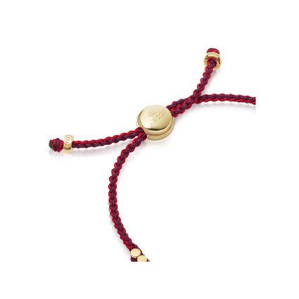 Ascot 18kt Yellow Gold Vermeil, Red & Purple Cord Mini Friendship Bracelet, , hires