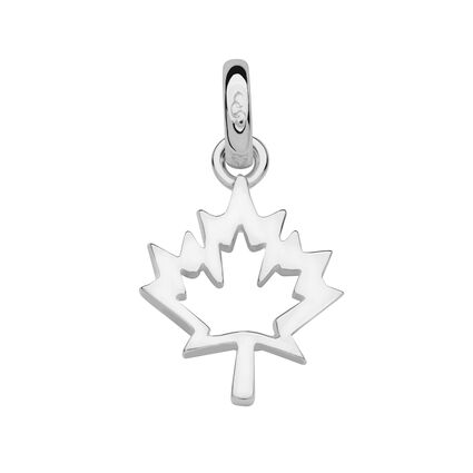 Sterling Silver Maple Leaf Charm, , hires