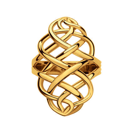 18K Yellow Gold Vermeil Woven Ring, , hires