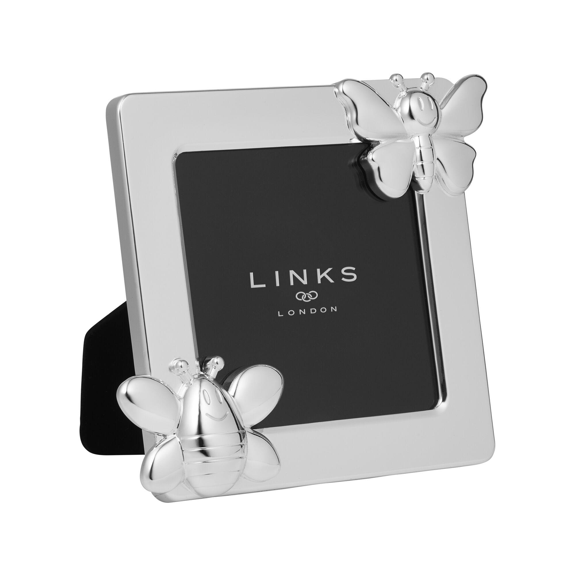 Little Friends Silver Plated Bee & Butterfly Frame | Links of London