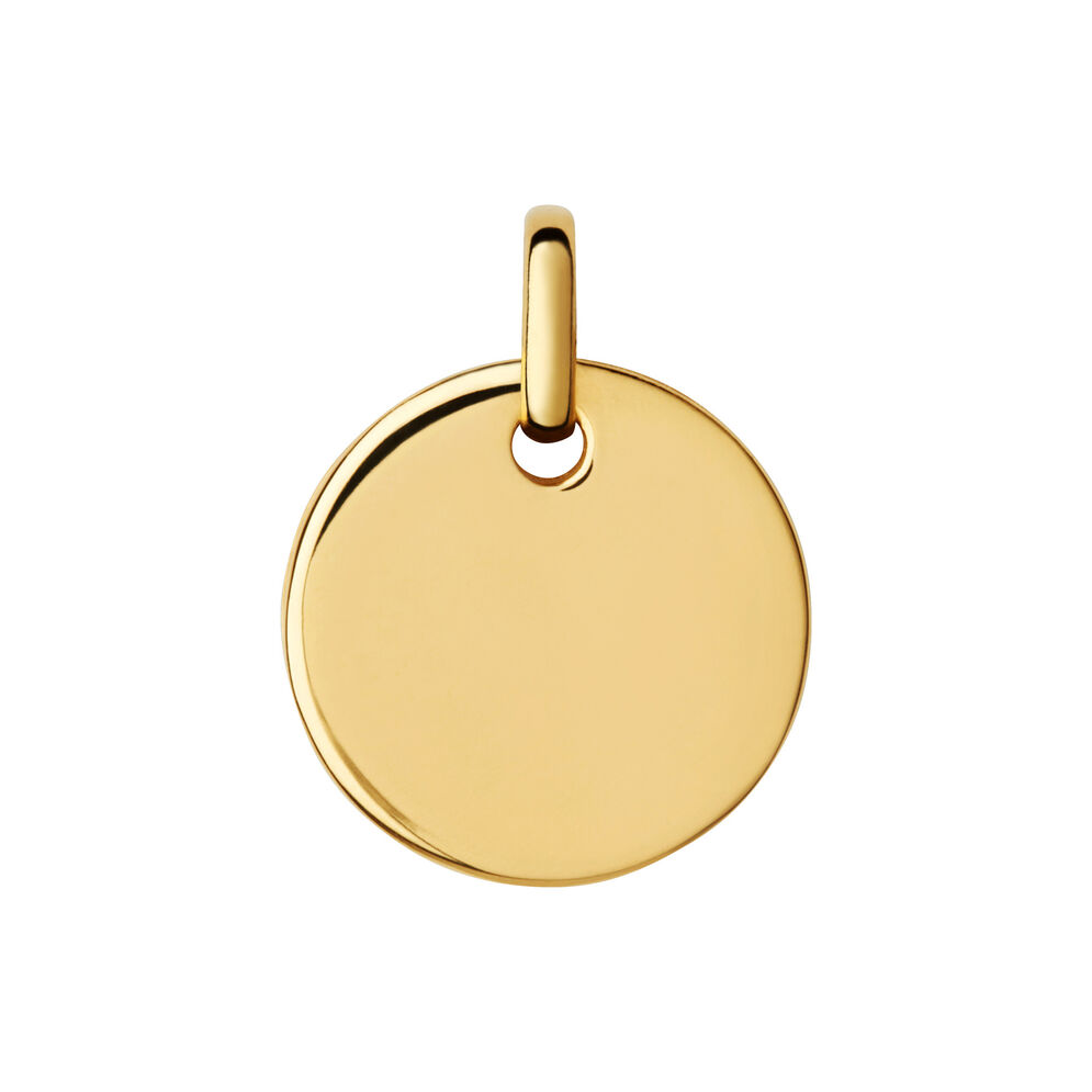 Narrative 18ct Yellow Gold Vermeil Small Round Disc Pendant, , hires