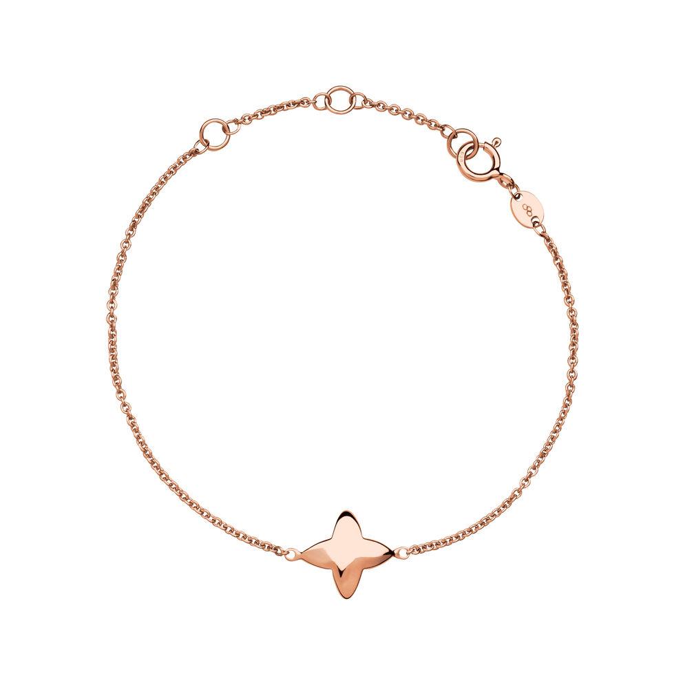 Splendour 18kt Rose Gold Vermeil Four-Point Star Bracelet, , hires