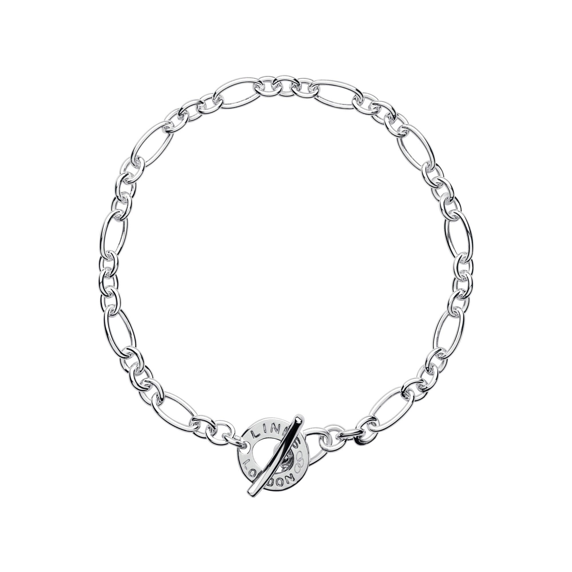 XS Silver Chain Charm Bracelet