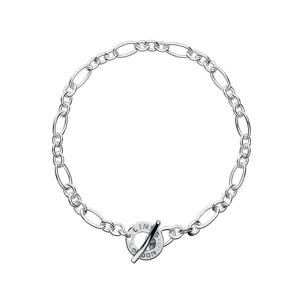 XS Sterling Silver Chain Charm Bracelet, , hires