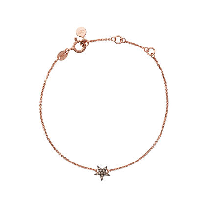 Diamond Essentials 18kt Rose Gold Vermeil & Champagne Pave Star Bracelet, , hires