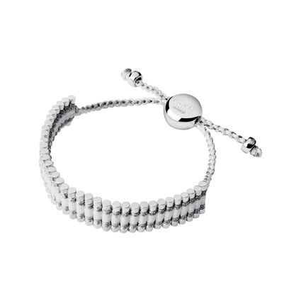 Friendship Bracelet - Pewter & White, , hires