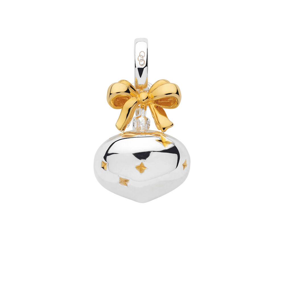 Sterling Silver & 18K Yellow Gold Vermeil Bauble Charm, , hires