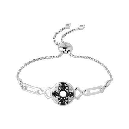 Timeless Sterling Silver & Black Sapphire Bracelet, , hires