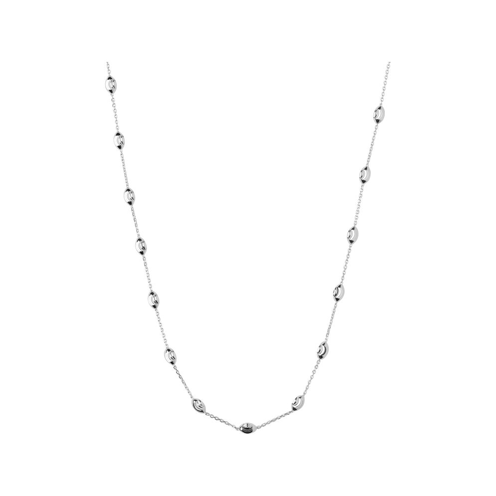 Essentials Sterling Silver Beaded Chain 45cm, , hires