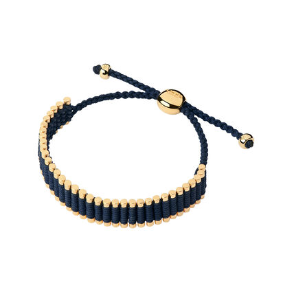 18kt Yellow Gold Vermeil & Navy Cord Friendship Bracelet, , hires