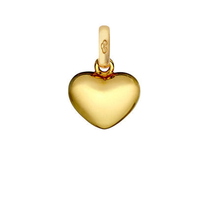18K Yellow Gold Heart Charm, , hires