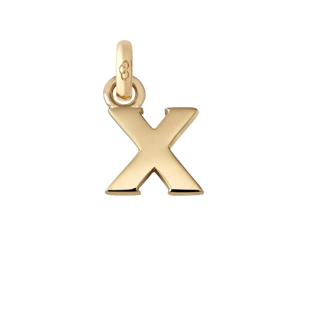 18ct Yellow Gold X Charm, , hires
